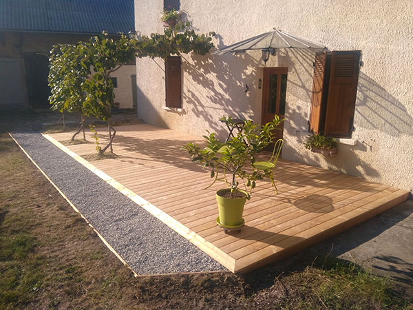 Création de terrasse en Savoie